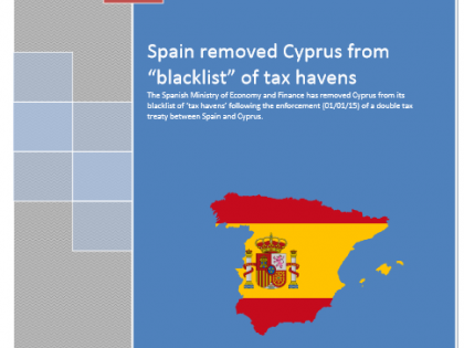 "Spain removed Cyprus from ""blacklist"" of tax havens"